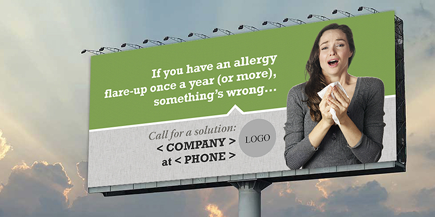 Allergies arent normal billboard 01